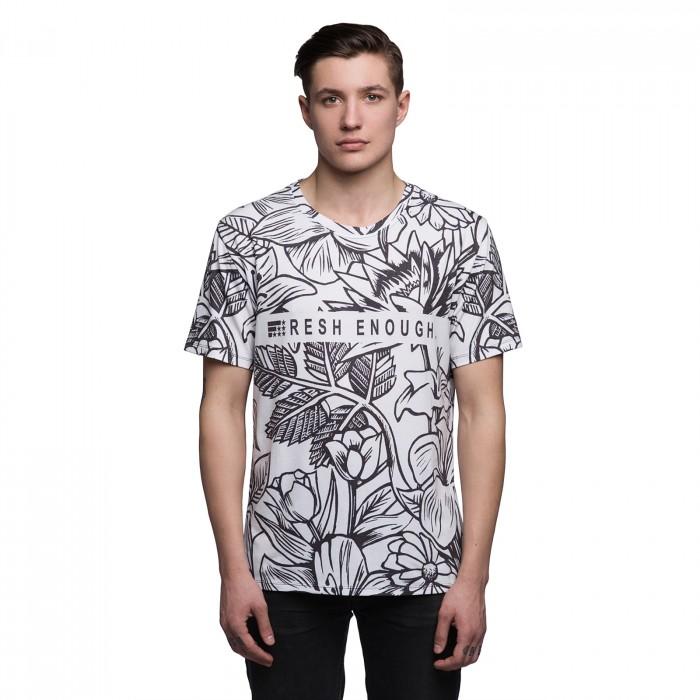 ef0e7aa66fa76 Купить Черно-белая мужская футболка с рисунком