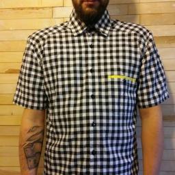 Дизайнерская рубашка с коротким рукавом от Marina Romanenko