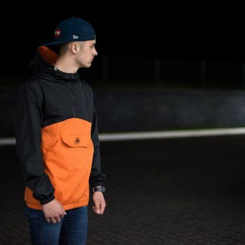 Черно-оранжевый мужской анорак KING FIREBIRD