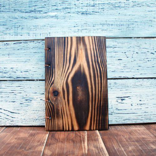 Деревянный блокнот ручной работы под старину