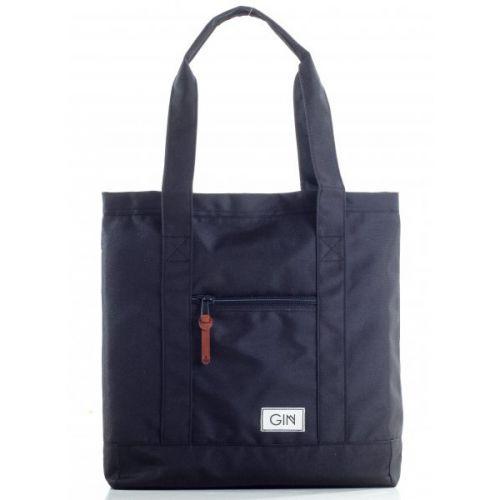 Стильная чёрная сумка-шопер для прогулок по городу и покупок АМСТЕРДАМ от украинского бренда GIN