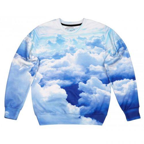 """Мужской свитшот с рисунком """"Clouds"""" FUSION"""