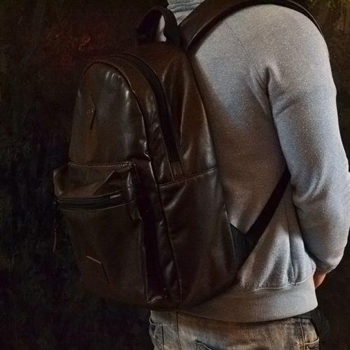 Купить кожаный рюкзак ручной работы, коричнево-красный