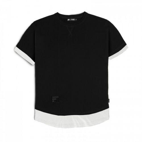 "Черно-белая мужская футболка ""BIANCO"" FUSION"
