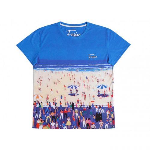"Разноцветная мужская футболка ""DEL MAR"" FUSION"