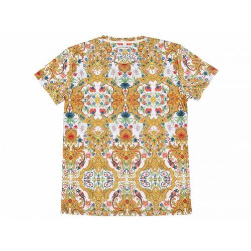 """Разноцветная женская футболка с рисунком """"FLORAL PARROT"""" FUSION"""