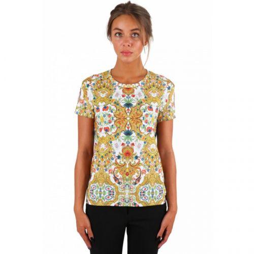"""Разноцветная мужская футболка с рисунком """"FLORAL PARROT"""" FUSION"""