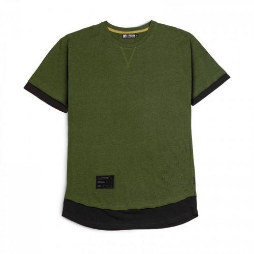 "Черно-зеленая мужская футболка ""RIFLE GREEN"" FUSION"