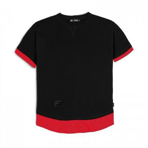 "Черно-красная мужская футболка ""BLOODY"" FUSION"