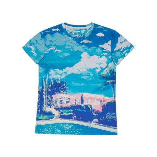 "Разноцветная мужская футболка ""PARADISE"" FUSION"