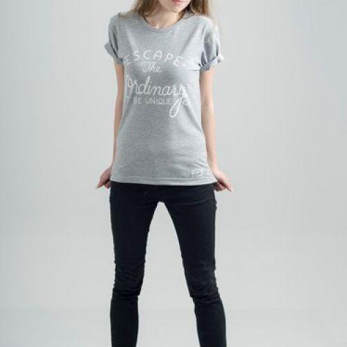 Серая женская футболка ESCAPE UNIQUE / GRAY