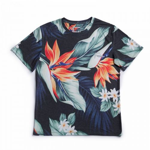 "Разноцветная мужская футболка ""BLOOM"" FUSION"