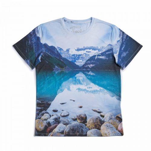 "Разноцветная мужская футболка ""EMERALD LAKE"" FUSION"