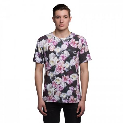 "Разноцветная мужская футболка ""ROSES"" FUSION"