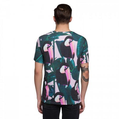 """Разноцветная мужская футболка """"TOUCAN"""" FUSION"""
