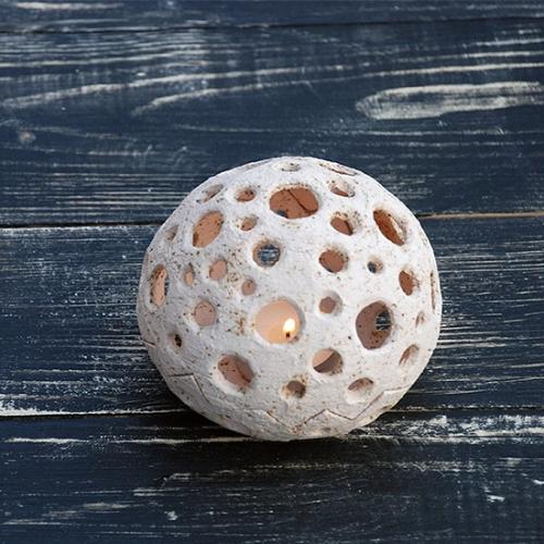 Глиняный керамический подсвечник для свечи-таблетки