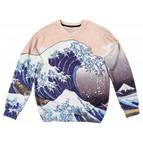 "Мужской свитшот с рисунком ""Great Wave"" FUSION"