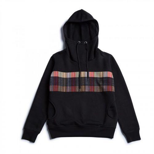 Стильная мужская черная худи с капюшоном NO SIGNAL от украинского бренда FUSION
