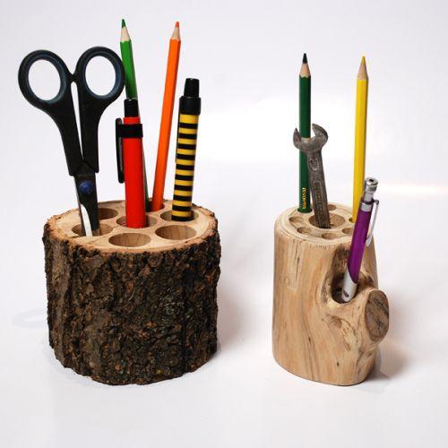 Купить карандашница из ветки натурального дерева