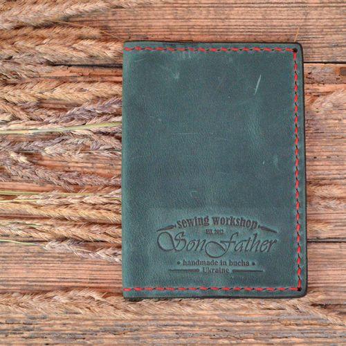 Зеленая обложка для паспорта