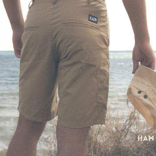 Стильные мужские шорты песочного цвета от украинского бренда XAM