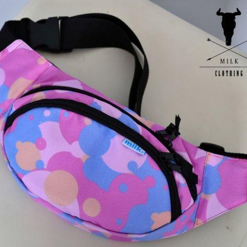 Разноцветная поясная сумка MILK
