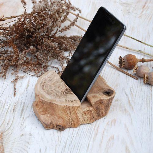 Купить деревянную подставка для телефона и планшета ручной работы