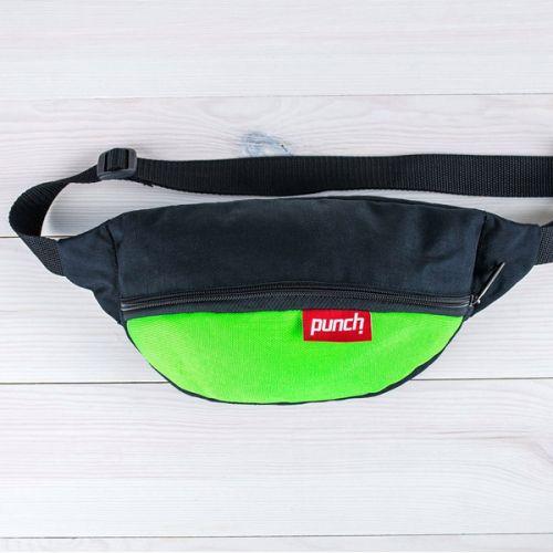 Стильная поясная сумка-бананка зелёного цвета от украинского бренда PUNCH