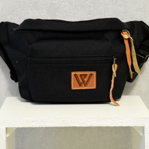 Черная поясная сумка W 54