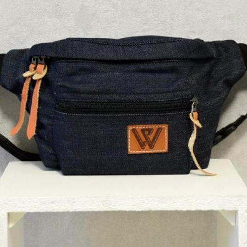 Темно-синяя поясная сумка W 54