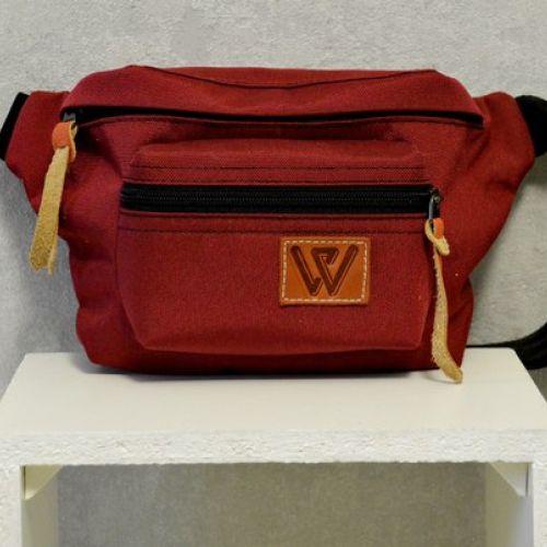 Красная поясная сумка W 54