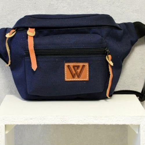 Синяя поясная сумка W 54