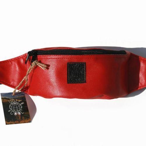 Красная поясная сумка UGLY COOL