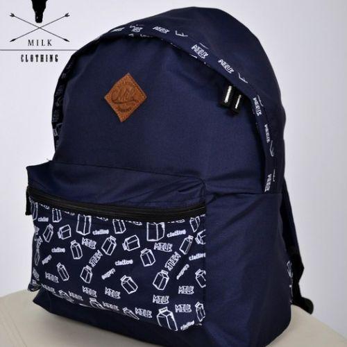 Темно-фиолетовый рюкзак с принтом MILK