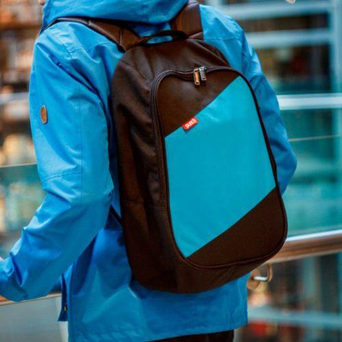 Черно-голубой рюкзак PUNCH