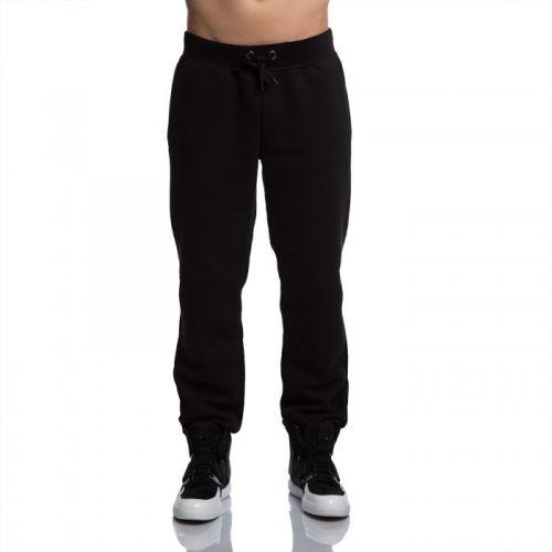 Стильные мужские чёрные флисовые штаны от украинского бренда FUSION