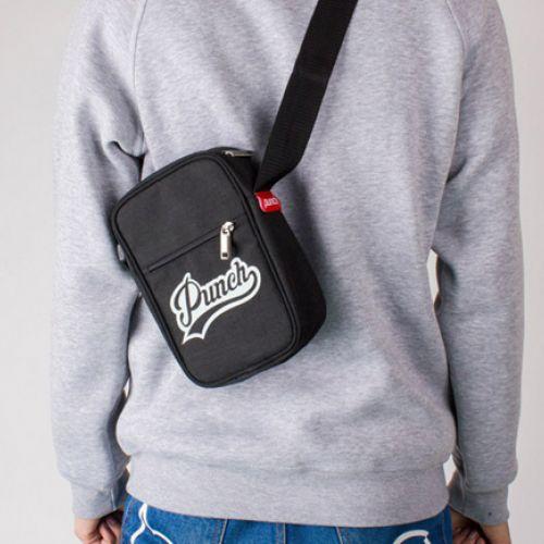 Черная мужская сумка через плечо PUNCH