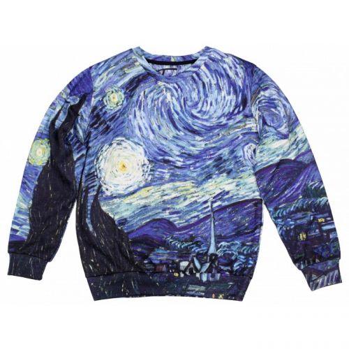 "Женский свитшот с рисунком ""Van Gogh"" FUSION"
