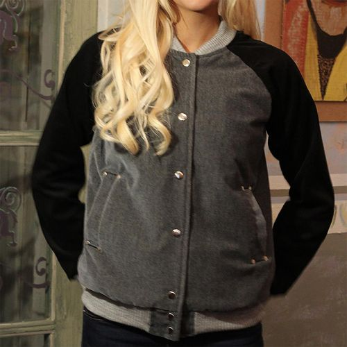 Стильная женская курточка, чёрный бархат и вельвет. Бомбер от Marina Romanenko
